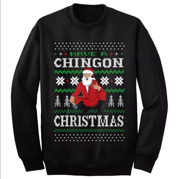 Ugly Christmas Black Sweater Spanish George Lopez NWT